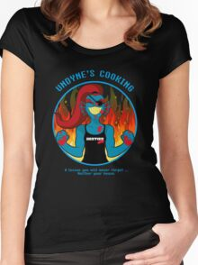Undyne's Cooking Women's Fitted Scoop T-Shirt