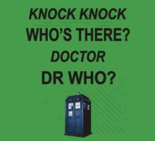 knock knock dr who for light colored shirts Baby Tee