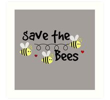 Save the Bees, Whimsical,Digital   Art Print