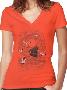 Before the Storm Women's Fitted V-Neck T-Shirt