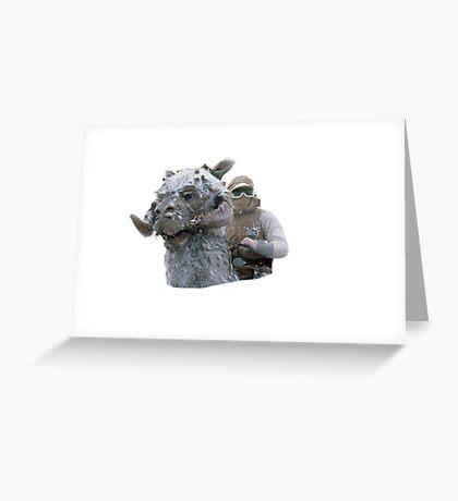 Tauntaun & Luke Greeting Card