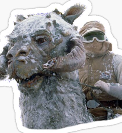 Tauntaun & Luke Sticker