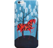Smug red horse iPhone Case/Skin