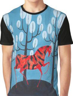 Smug red horse Graphic T-Shirt