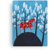 Smug red horse Canvas Print