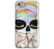 Dia Sugar Skull Big Eyed Girl iPhone Case/Skin