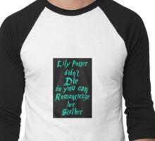 Lily Potter-Sea Green Men's Baseball ¾ T-Shirt