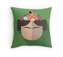 Princess Leia Kahlo Throw Pillow