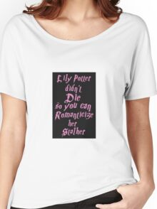 Lily Potter-Pink Women's Relaxed Fit T-Shirt