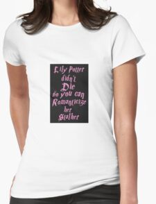 Lily Potter-Pink Womens Fitted T-Shirt