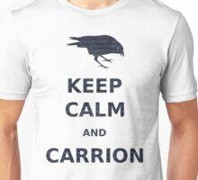 keep calm and carrion crow grunge blue stripe Unisex T-Shirt