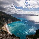 Myrtos Beach in Kefalonia by Melanie Simmonds