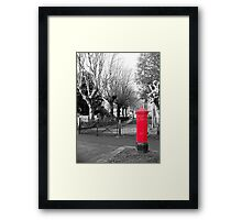 Red Post Box, Walthamstow Village, East London Framed Print