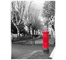 Red Post Box, Walthamstow Village, East London Poster