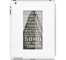 Vintage subway stations signs in New York City Flat Iron iPad Case/Skin