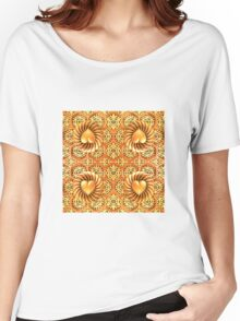 Five Way Golden Hearts and Laces Women's Relaxed Fit T-Shirt