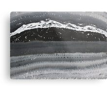 Rocky Winter Nocturne original painting Metal Print