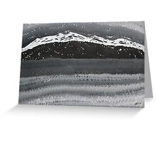 Rocky Winter Nocturne original painting Greeting Card