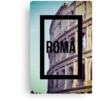 Rome Colosseum Photography Great Wanderlust Canvas Print