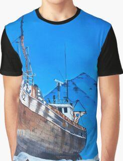 Frozen Fishing Trolley Graphic T-Shirt