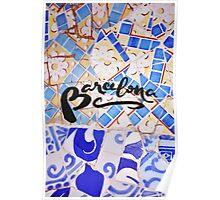 Barcelona Spain Gaudí Pattern Photography Poster