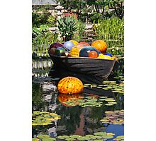 Boat with Glass Balls Photographic Print
