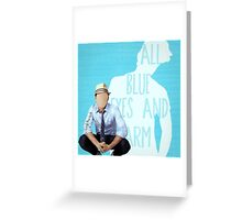 Blue Eyes and Charm Greeting Card