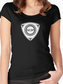 SE3P Rotary design Women's Fitted Scoop T-Shirt