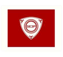 SE3P Rotary design Art Print