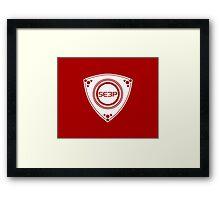SE3P Rotary design Framed Print