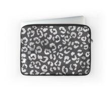 Black white hand paint leopard pattern chalkboard Laptop Sleeve