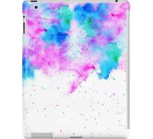 Pink blue modern watercolor brushstrokes splatters iPad Case/Skin