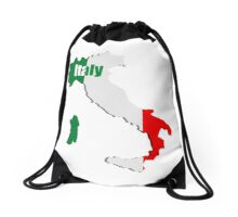 Italy map Drawstring Bag