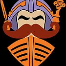 Moustache At Arms by JoeConde