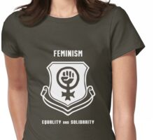 Feminism Shield -- Equality and Solidarity Womens Fitted T-Shirt