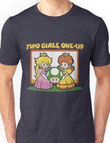2 Girls, One-Up Unisex T-Shirt