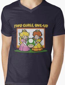 2 Girls, One-Up Mens V-Neck T-Shirt