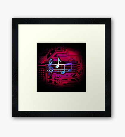 Circuit Notes Framed Print