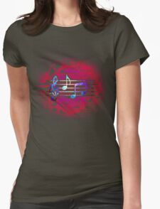 Circuit Notes Womens Fitted T-Shirt