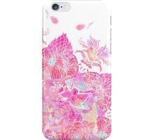 Pink boho bold floral henna mandala pattern iPhone Case/Skin