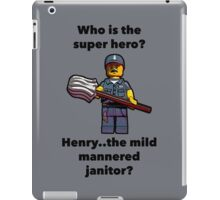 Henry..the mild mannered janitor by #fftw iPad Case/Skin