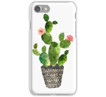 Watercolor cactus iPhone Case/Skin