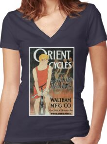 Edward Penfield bicycles ad Lead the leaders American golden age Women's Fitted V-Neck T-Shirt