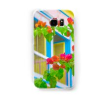 Colored Flowers in Front of  Windows House Samsung Galaxy Case/Skin