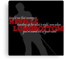 Neville Longbottom Taught Me..... Canvas Print