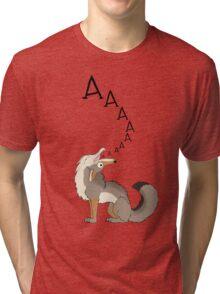 Howling Coyote - AAAAAA! Tri-blend T-Shirt