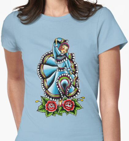 Jalisciense Pinup Womens Fitted T-Shirt
