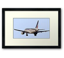 Airbus A320 from back Framed Print