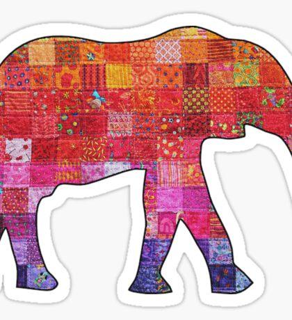 hippy elephant sticker Sticker
