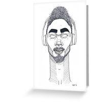 Not Listening - Portrait of Josh Greeting Card